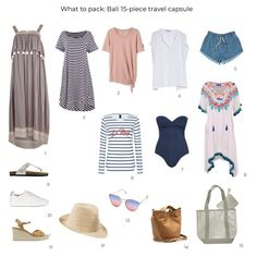 Looking to tips for what to pack for a holiday in Bali? This new travel capsule wardrobe will get your suitcase off to a good start. checklist bali What to pack for a holiday in Bali: new capsule Holiday Essentials, Travel Essentials, Holiday Checklist, Travel Necessities, Travel Wardrobe, Capsule Wardrobe, Travel Outfits, Travel Fashion, Vacation Outfits