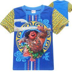 >> Click to Buy << Boys clothes Maui kids t-shirts roupas moana clothes short sleeves t-shirt cartoon enfant summer boys t shirt infantis menino #Affiliate