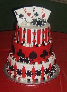 Vegas Themed Wedding Cake, Love it!