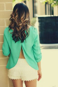 absolutely like the tails on the teal top (my fav color) & the highlights in her hair