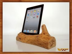 iPad dock  - perfect for music in the nursery. #pinparty #lumberjack