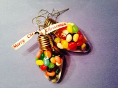 "Teacher Gift :) May your days be ""colorful"" May your heart be ""light"" May your Christmas be Merry And your New Year ""Bright""!  Enjoy these Jelly Bellys first, Then place your bulb on your tree, I hope each year after, You will think of me!   Having you at school has ""bean"" a delight!  Thank you for helping to make my future ""bright""!  Love,"