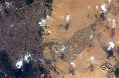 Pyramids from space