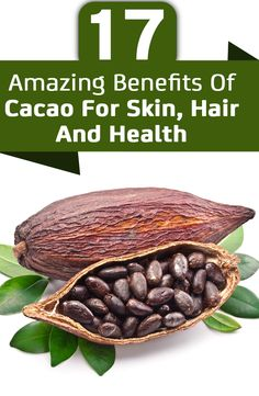 Chocolate comes from the cacao tree which contain healthy antioxidants that can boost your health. Here are amazing benefits of cacao for skin, hair & health Cocoa Benefits, Cacao Powder Benefits, Chocolate Benefits, Benefits Of Organic Food, Health Benefits, Natural Health Remedies, Herbal Remedies, Natural Skin Care, Natural Beauty