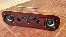 Connect the input of the buck and Wooden Speakers, Home Speakers, Radio Design, Speaker Design, Diy Electronics, Electronics Projects, Diy Headphone Stand, Diy Boombox, Diy Bluetooth Speaker