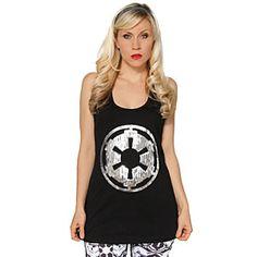 Imperial Logo Ladies' Sequin Tank Top | ThinkGeek $25