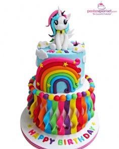 14 Totally Magical Rainbow Birthday Cakes for Girls My Little Pony Birthday Cake My Little Pony Cake, My Little Pony Birthday Party, Birthday Cake Girls, Pony Party, 5th Birthday, Birthday Wishes, Birthday Ideas, Girl Cakes, Savoury Cake