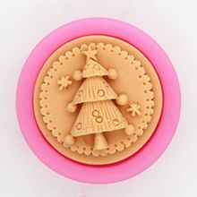 C422 soap mold/handmade soap mold/silicone mold/soap die/silica gel soap die round the Christmas tree(China)