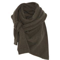 Asymmetric yak and merino wool-blend scarf (€210) ❤ liked on Polyvore featuring accessories, scarves, lemaire, merino wool scarves and merino wool shawl