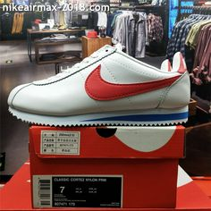 save off b8c8b 9f7e9 Retro Nike Classic Cortez Special Men Running Shoes Leather White Red Blue