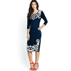 Navy and White. Latest Fashion, Kids Fashion, Dresses For Work, Formal Dresses, My Wardrobe, Navy And White, How To Wear, Shopping, Clothes