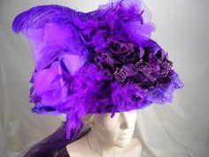 Victorian Large Purple Hat