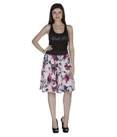 Shopingfever Pink Crepe Skirts