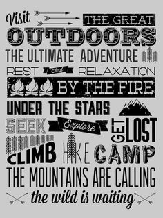 Visit the great outdoors. Under the stars.