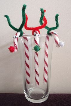 Candy Cane Reindeer - finished product by Erin @ Missy Mac Creations, via Flickr