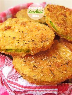 Zucchini Parmesan Bites   SugarApron.com   #zucchini #veggie_recipes #parmesan