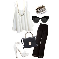 Black&White party by vasy92 on Polyvore featuring polyvore, moda, style, Forever New and DailyLook