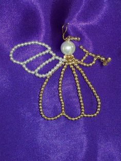 Heralding Angel Chrismon-style Ornament Bead Kit - heirloom quality beads. $5.00, via Etsy.