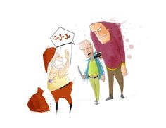 """""""Más perdido que papá noel en mayo y salado como botón de body"""" Children's Book Illustration, Mayo, Body, Concept Art, Lost, Papa Noel, Conceptual Art"""