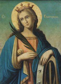 Catholic Prayers, Catholic Saints, St Catherine Of Alexandria, Saint Katherine, Images Of Mary, Holy Mary, Orthodox Christianity, Medieval, Nature Photography