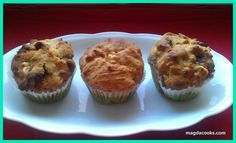 Gooey, soft apple muffins with cranberries and with honey instead of sugar