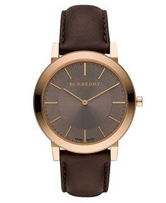 Burberry Watch, Men's Swiss Brown Leather Strap 30mm BU2354 - Men's Watches - Jewelry & Watches - Macy's