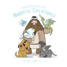 Home For Magical Creatures, Harry Potter / Hagrid Design | TeeFury