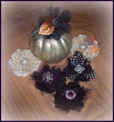 Vintage Dragonfly  Handmade autumn flowers