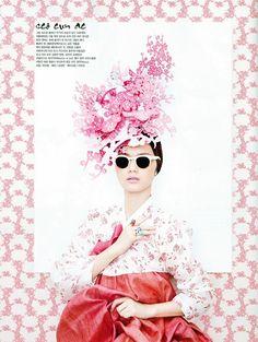 Modern floral 한복 Hanbok / Traditional Korean dress