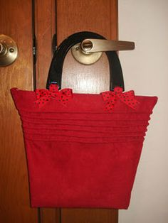 Placemat sewn into a Purse