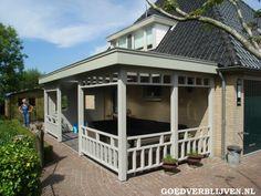 Houten terrasoverkapping Breda
