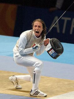 Valentina Vezzali Action Pose Reference, Action Poses, Fencing Sport, Women's Fencing, Olympic Fencing, Kids Choice Award, Figure Poses, Different Sports, Dynamic Poses