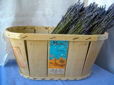 Les cageots des épiciers...  French Vintage wooden crate for Morocco Fruits PRICE REDUCED 68 instead of 75 - french decoration. $54.00, via Etsy.