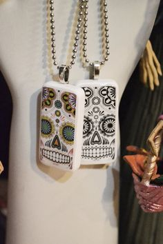 Domino birdie here to remind me to make the bird in metal and sugar skull domino pendant wchain by satuittradingco on etsy 1000 aloadofball Image collections