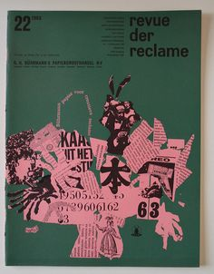 Revue der Reclame a bimonthly business-to-business magazine for the advertisement industry / 1963