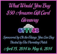 What Would You Buy $50 Amazon Gift Card Giveaway ~ Ends 5/6