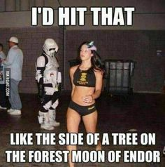 Star Wars humor.  great mental image haha