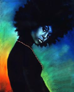 Natural Woman Two depicts a proud, defiant Black woman with a big afro Black Girl Art, Black Women Art, Art Girl, Art Women, Black Art Painting, Black Artwork, African American Art, African Art, American Women