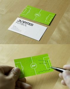 Another example of interactive business cards where the user is inclined to draw on the card.
