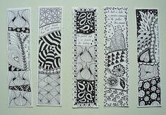 Zentangle  | MakeArtBeHappy: Boekenleggers/ bookmarks