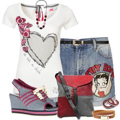 """""""Betty Boop -de-do"""" by skpg on Polyvore"""