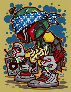 Gangsta Fett by Reis O'Brien
