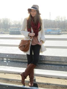 layers + floppy felt hat [perfect fall outfit]