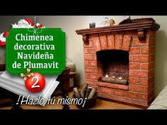 Decoración de Navidad / Chimenea (Falsa) de Plumavit - Manualidades - Christmas decoration - YouTube