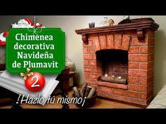 Decoración de Navidad / Chimenea (Falsa) de Plumavit - Manualidades - Christmas decoration - YouTube