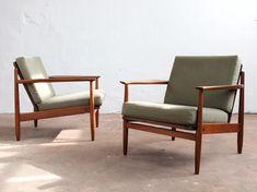 Danish pair of armchairs in teak, 1960s