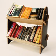 Book Mule durable, compact, portable, flat-pack bookshelf made in Canada | Blue Gum Design $80 for a limited time #bookcase