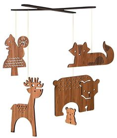 Petit Collage Bamboo Mobile- Forest - Best Price  #DiaperscomNursery