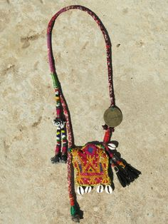 Ethnic necklace with Rabari Indian centerpiece by EthnicTree, $140.00