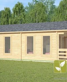 "Ref: 611 ""Ashford"" Log Cabin x Cabin size internal - x Bedroom size - x Bathroom size - x Pantry size - x Kitchen size - x Window S Large Windows, Windows And Doors, Cottage Front Porches, Kitchen Size, Window Sizes, Home Theater Speakers, Little Cabin, Tiny House Cabin, Cabin Interiors"